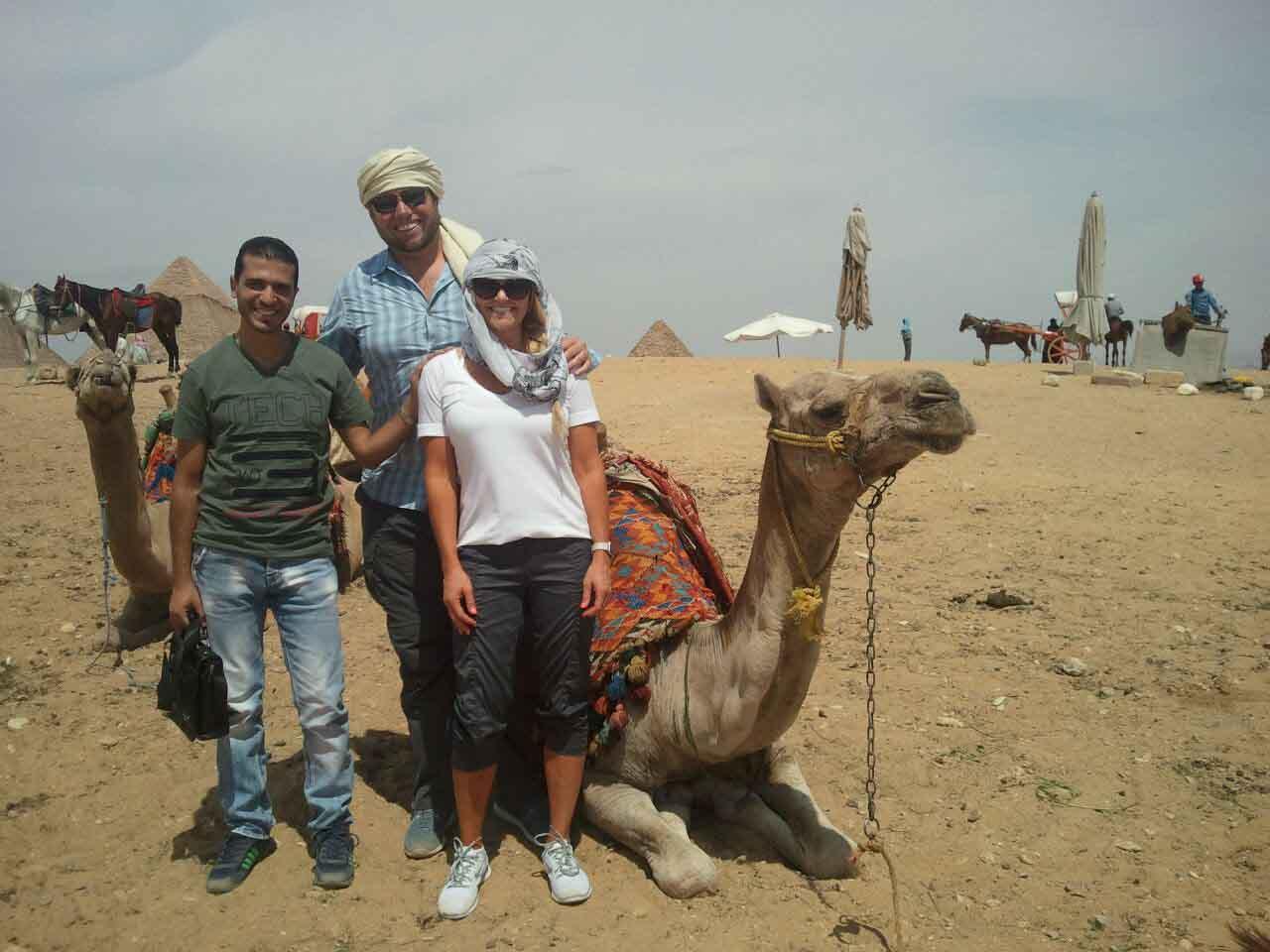 camel ride in giza pyramids