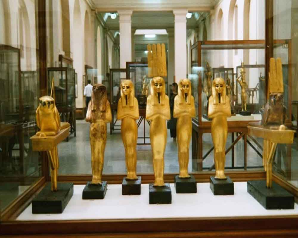 statues at egyptian museum