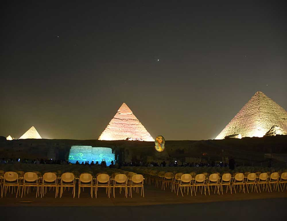 Giza pyramids sound and ligh show