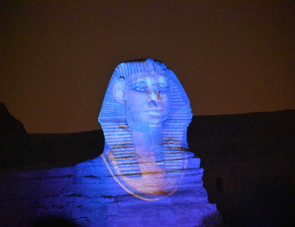 Sphinx sound and light show