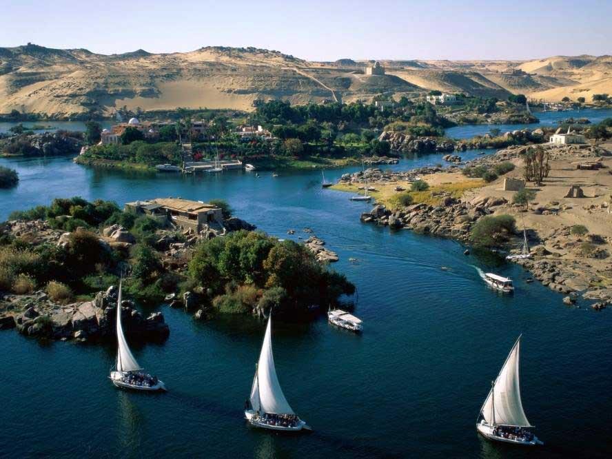 Philae island - Aswan Nile Felluca
