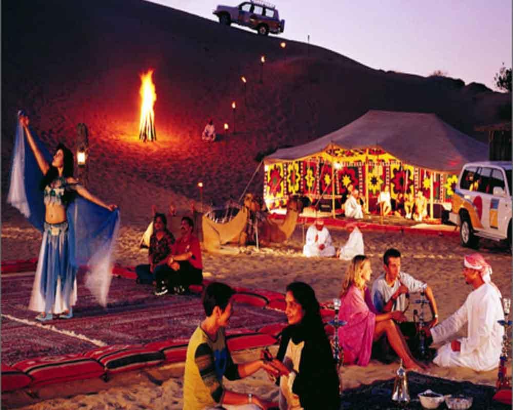 Dinner at the desert