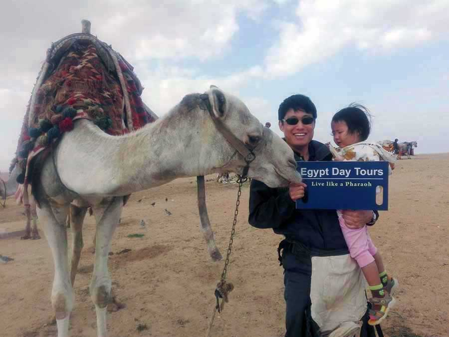 Camel Ride at Gize Pyramids