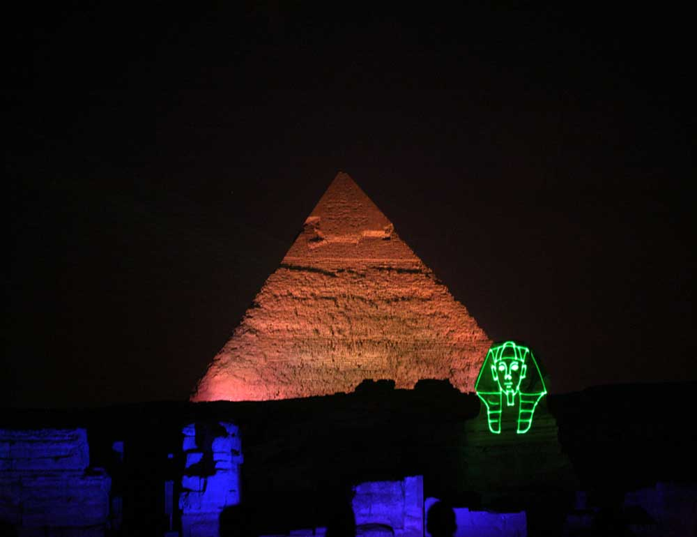 sound and light at Giza pyramids