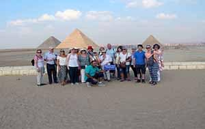 Cairo Pyramids Sphinx over day